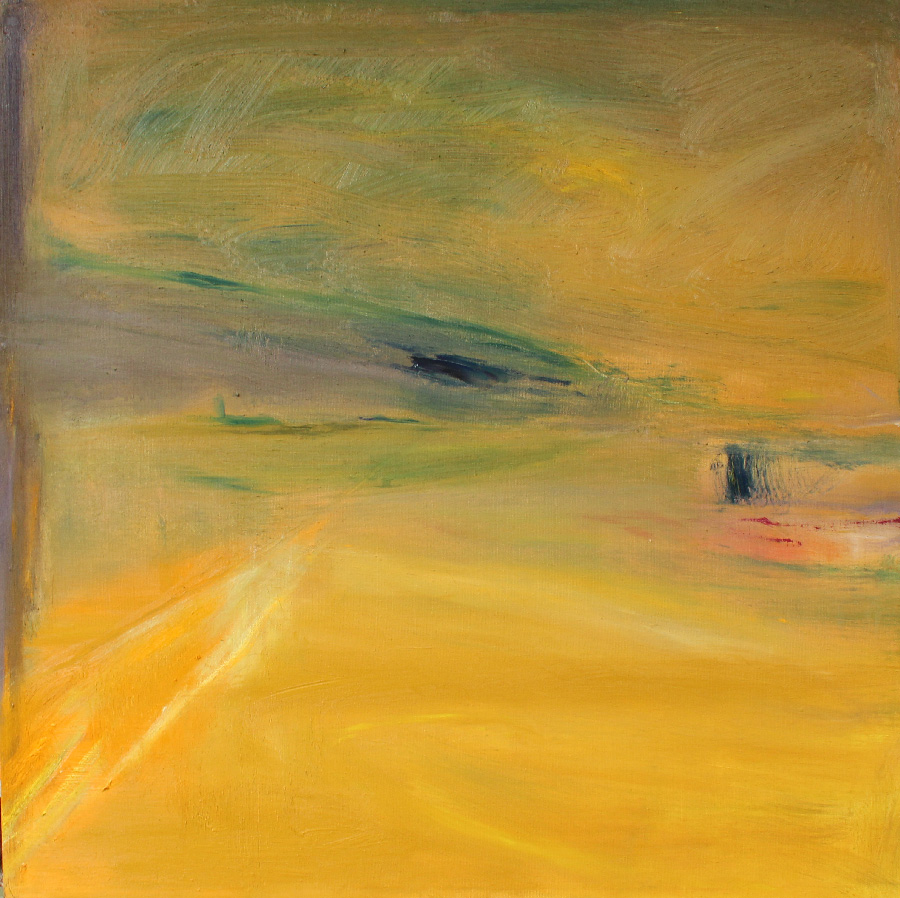 Okra, öljy kankaalle, 120 x 120cm