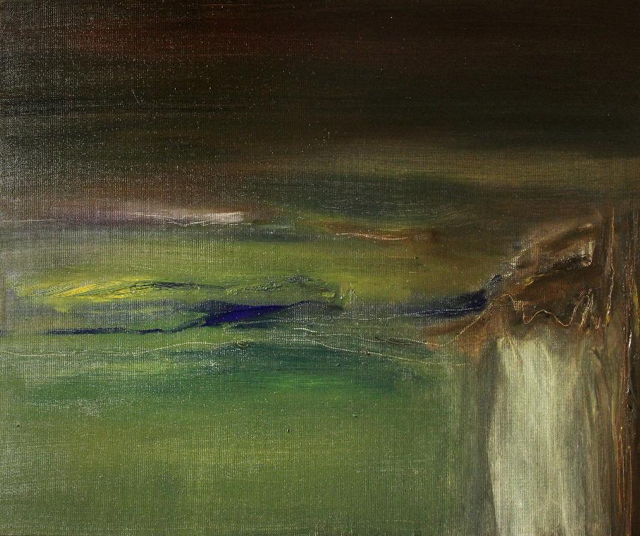 Nainen metsässä, öljy kankaalle, 40 x 55cm