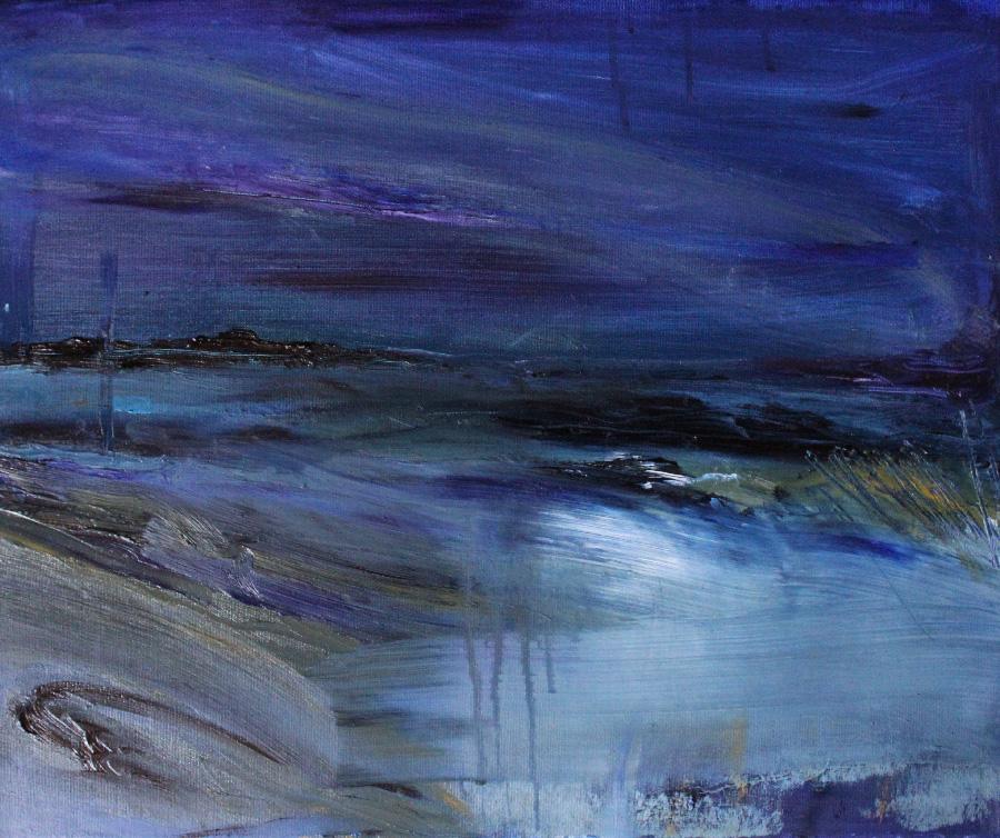 Merellä, öljy kankaalle, 40 x 55cm