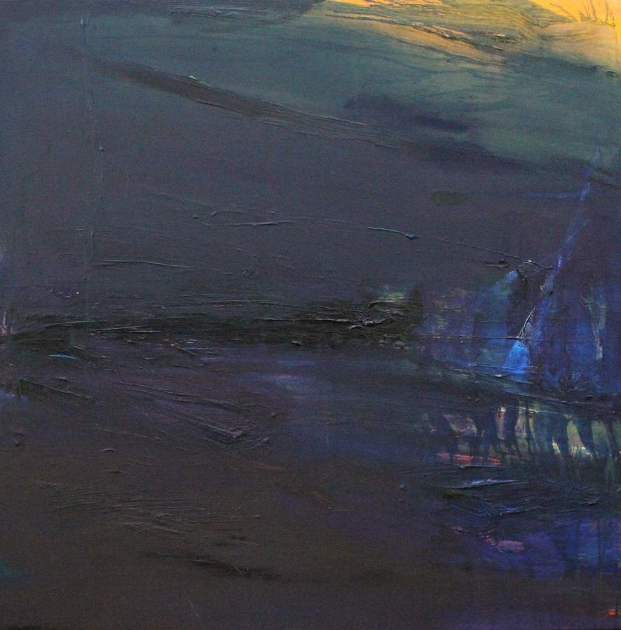 Sinituuli, öljy kankaalle, 100 x 100cm