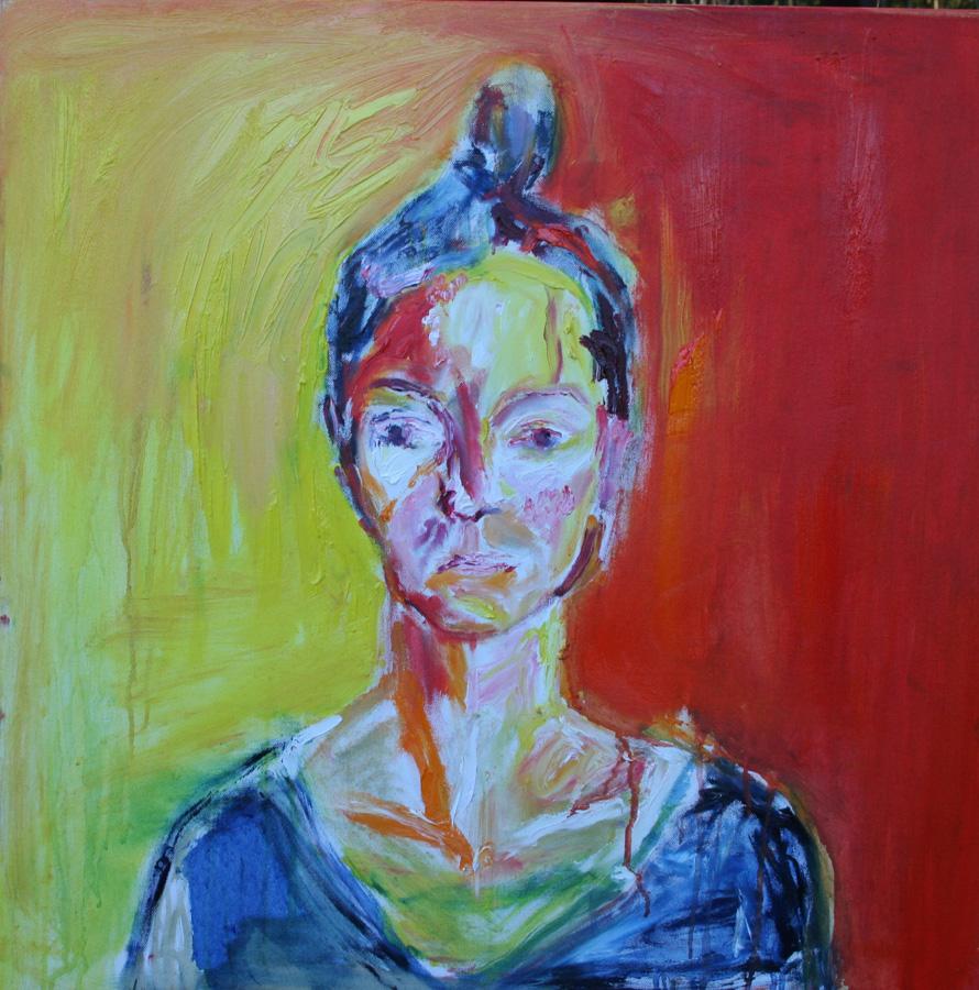 Miina Myynä, öljy kankaalle, 60 x 60cm