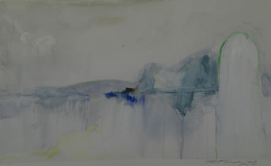 Kummeli, akvarelli, 50 x 80cm