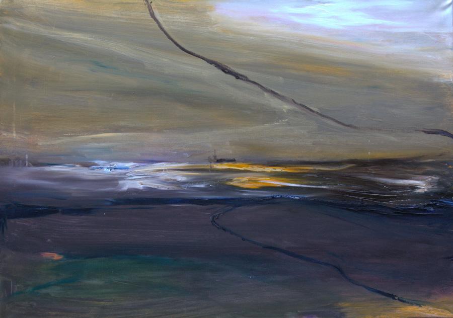 Aava, öljy kankaalle, 80 x 100cm