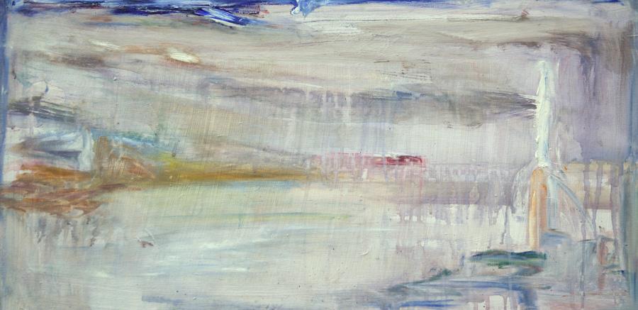 Jäässä, öljy kankaalle, 50 x 110cm