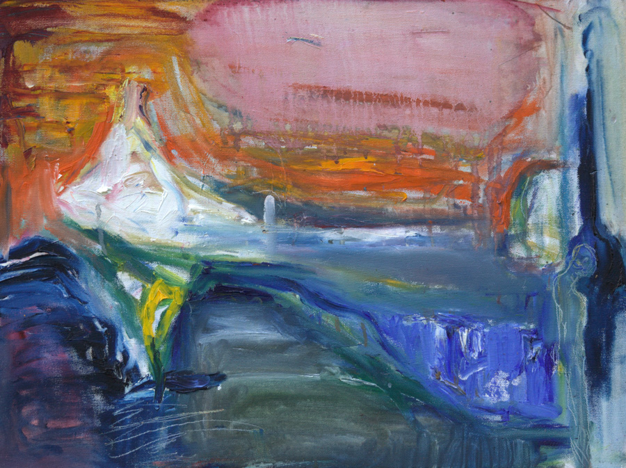 Jäätynyt, öljy kankaalle,  40 x 50cm