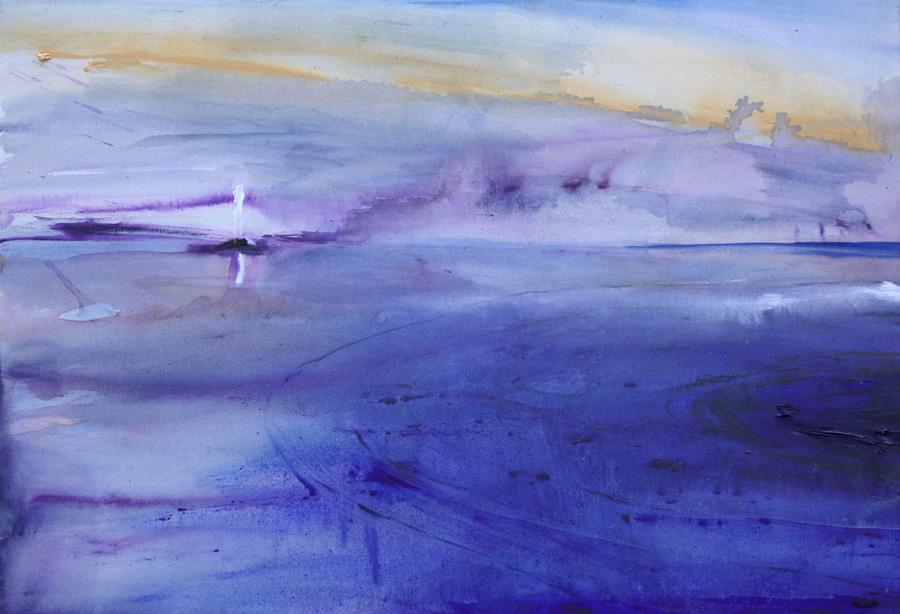 Kohti sinistä, öljy kankaalle, 80 x 110cm