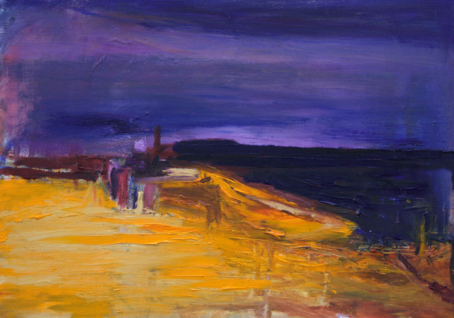 Keltainen ranta, öljy kankaalle, 40 x 55cm