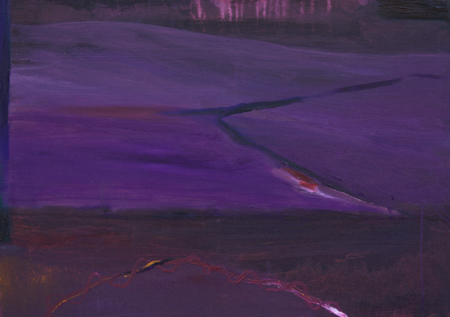 Lila, öljy kankaalle, 60 x 70cm