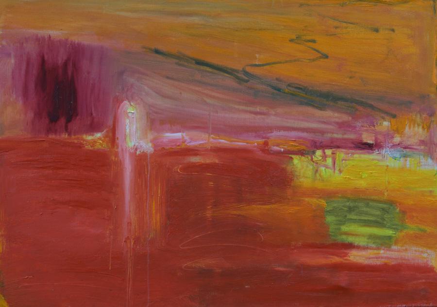 Suuri puna, öljy kankaalle, 70 x 100cm