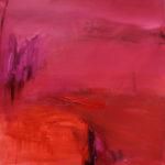 Punainen, öljy, 80cm x 80cm, 2018